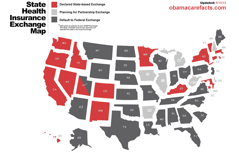 State Health Insurance Exchange Map