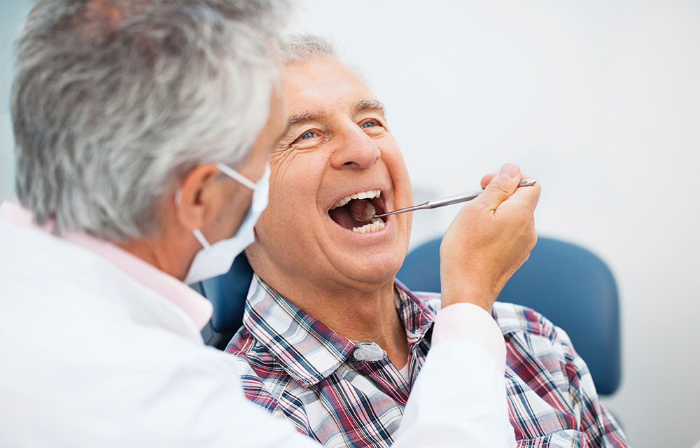 Free dentures for seniors