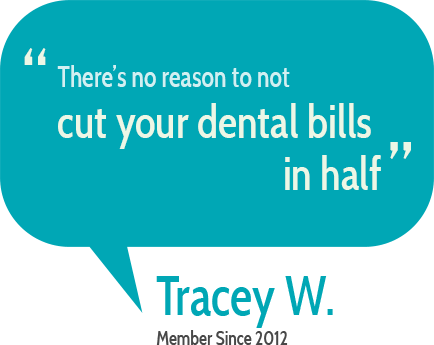 """There's no reason to not cut your dental bills in half""  Tracy W."